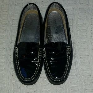 Sperry Top-Siders Black Patent Leather Size 6.5